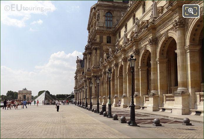 Pavillon Richelieu At The Louvre Museum
