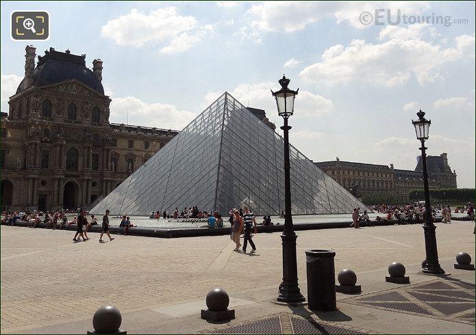 I M Pei Pyramid With Pavillon Denon