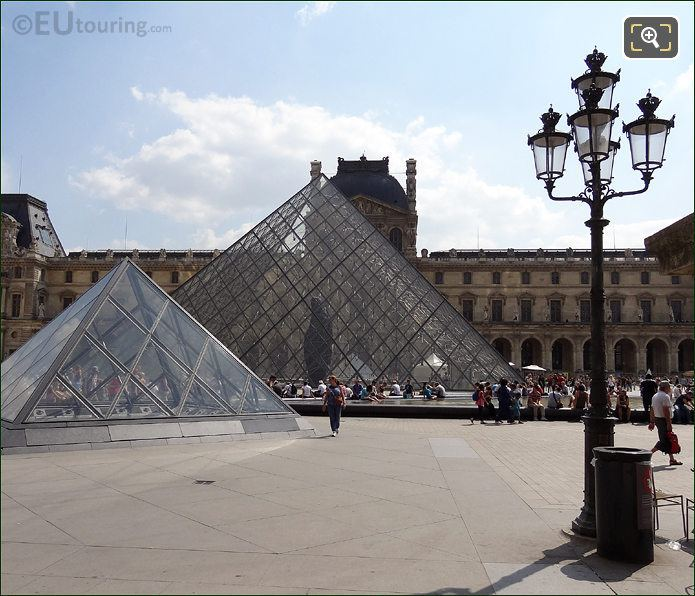 Pyramids At The Louvre Museum