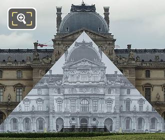Disappearing Pyramid Louvre Museum