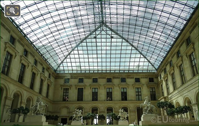 Glass Roof Over Richelieu Courtyard