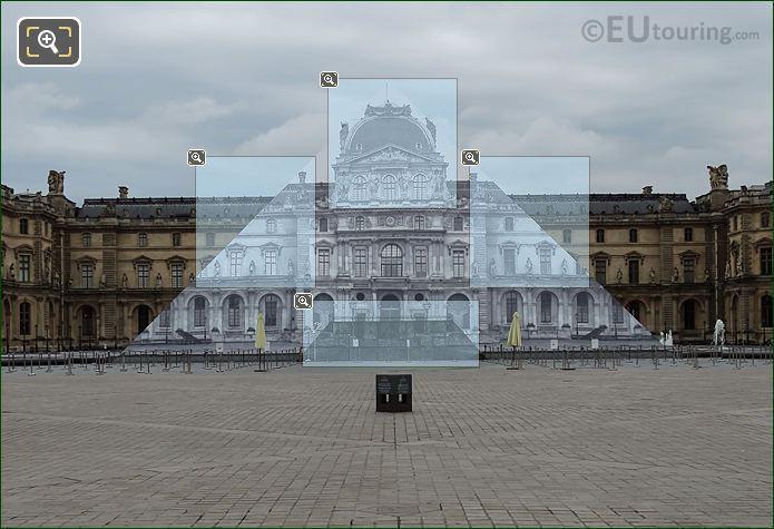 Anamorphic I M Pei Pyramid Louvre Museum