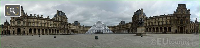 Panoramic Cour Napoleon Musee Du Louvre