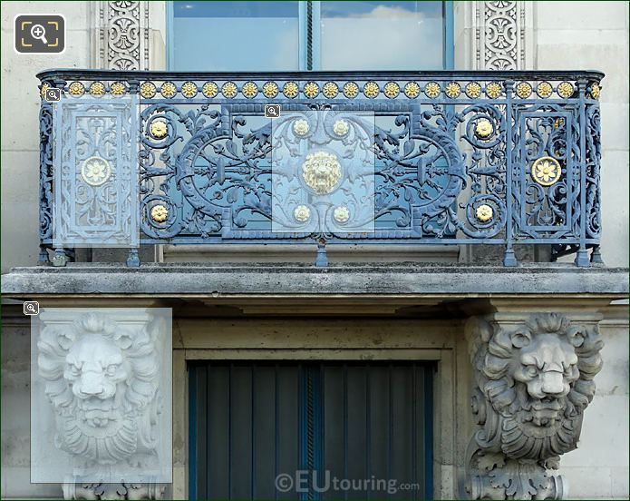 Gilded Balcony Pavillon De Flore