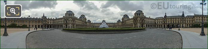 Panoramic Cour Du Carrousel And Musee Du Louvre