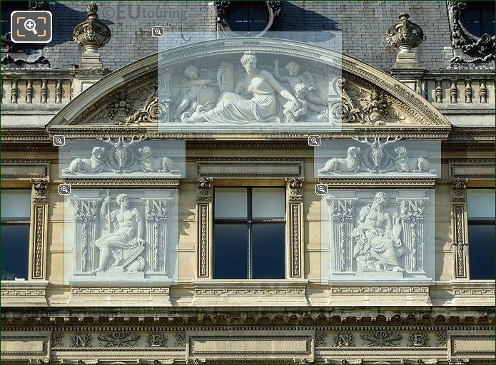4th Window Sculptures On Aile De Flore