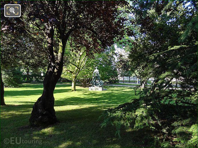 SW View Over Gardens Within NE Corner Jardin Du Luxembourg
