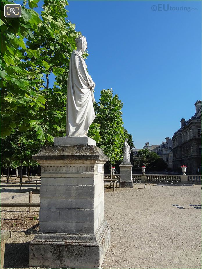 North View Over West Terrace In Jardin Du Luxembourg