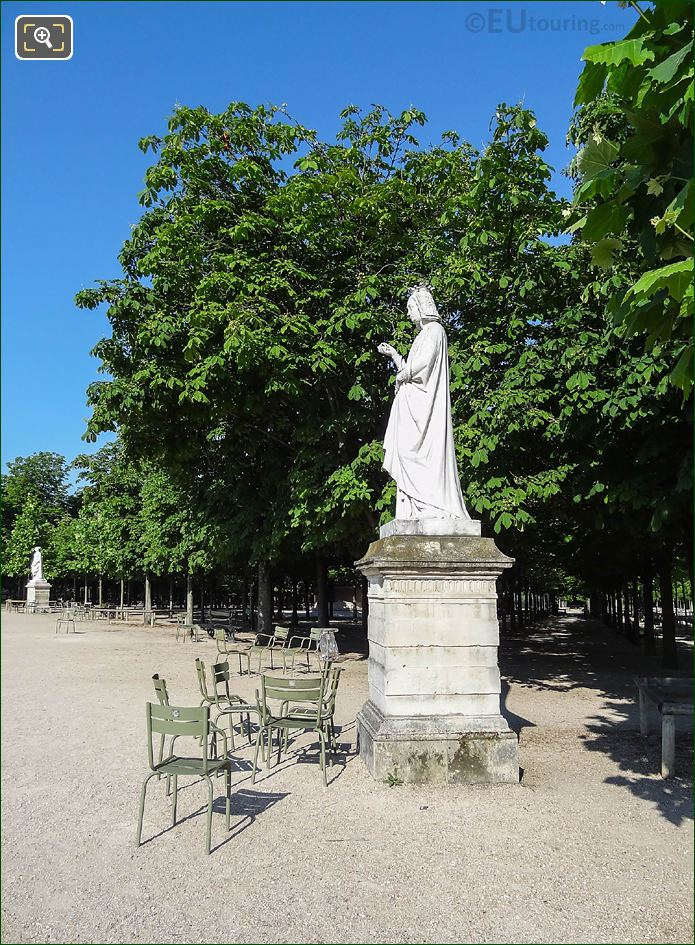 SW View Over Western Semicircular Terrace Jardin Du Luxembourg
