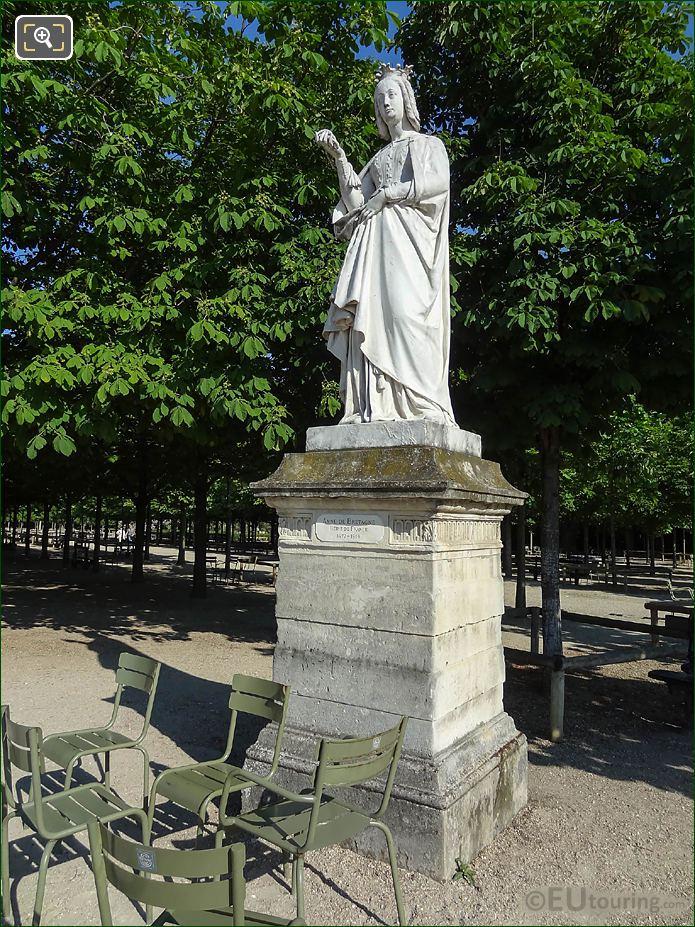 Jardin Du Luxembourg Anne Of Brittany Statue Western Terrace