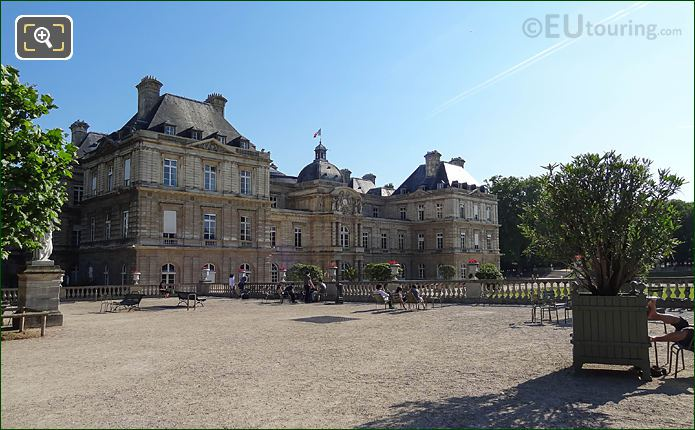 Palais Du Luxembourg South Facade From North End Of Western Terrace