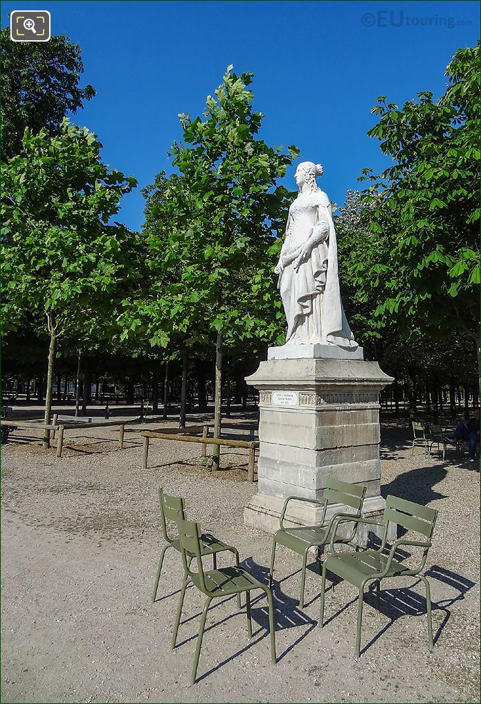Jardin Du Luxembourg Anne Of Austria Statue Western Terrace