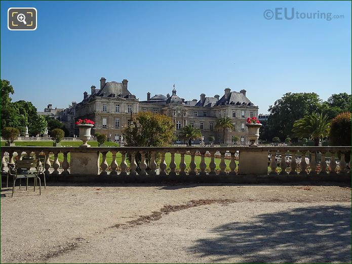 Palais Du Luxembourg Viewed From Western Terrace Luxembourg Gardens