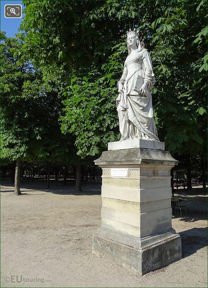 Jardin Du Luxembourg Duchess Of Orleans Statue Western Terrace