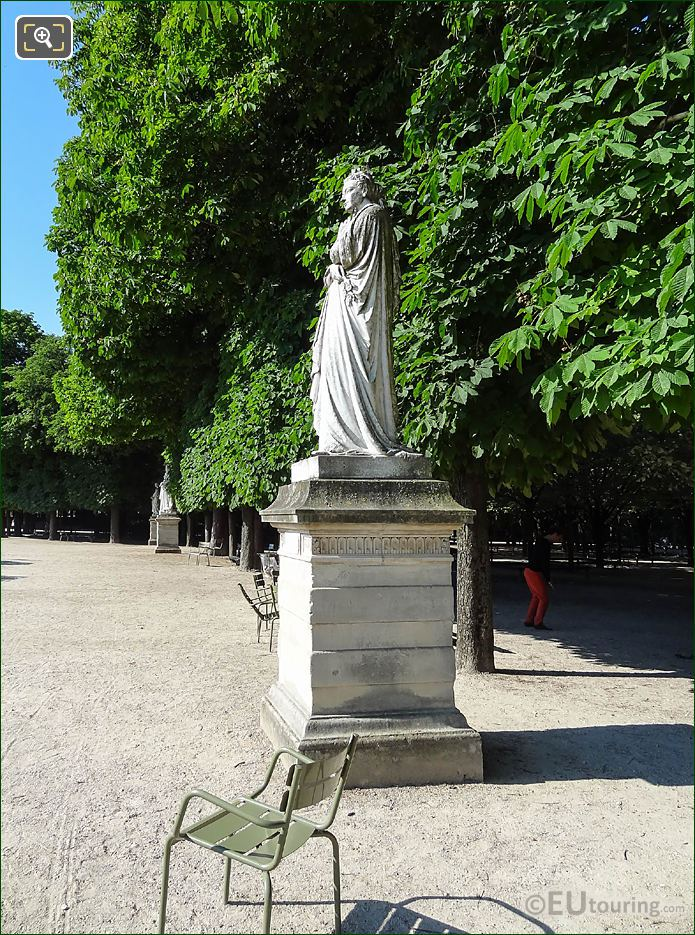 Jardin Du Luxembourg Queen Of Navarre Statue West Terrace