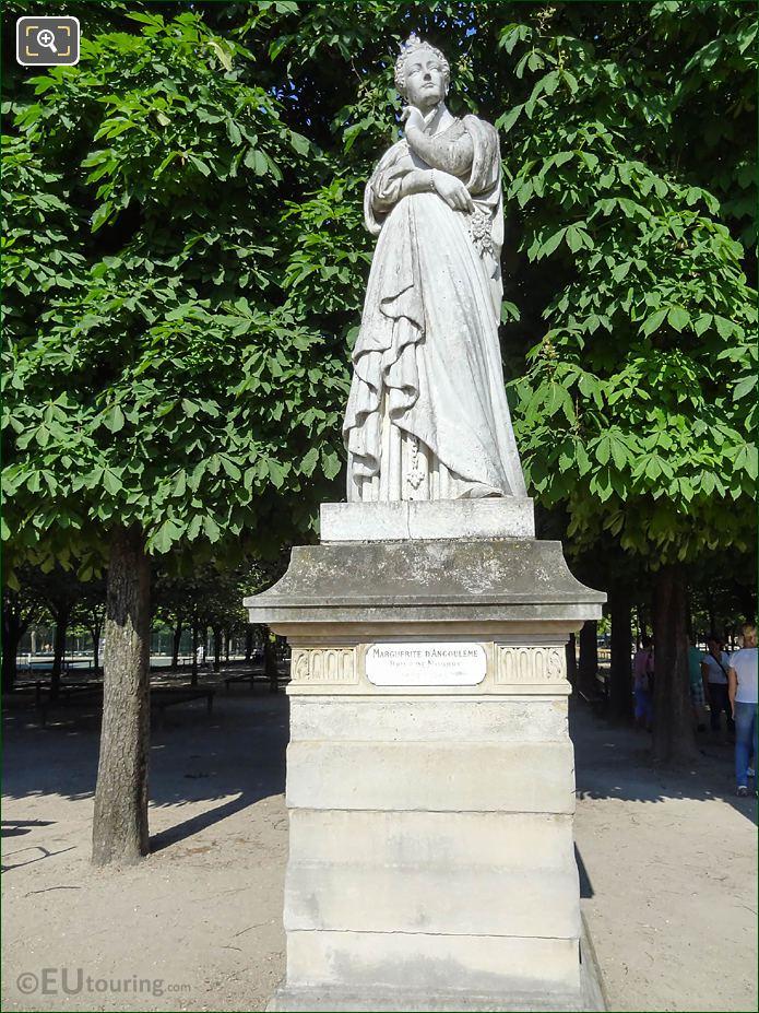 Jardin Du Luxembourg Marguerite d'Angouleme Statue Western Terrace