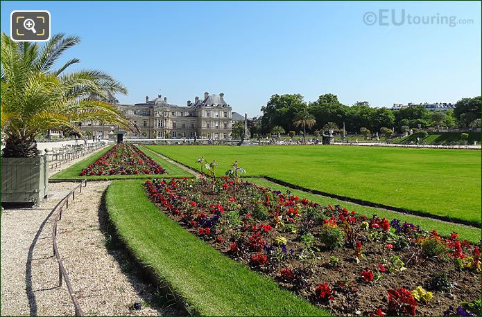 North View Down West Side Central Gardens Jardin Du Luxembourg