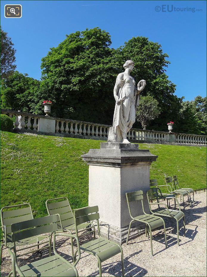 Jardin Du Luxembourg Antique Statue Western Semi Circular Garden