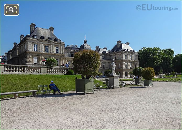 Palais Du Luxembourg In Luxembourg Gardens