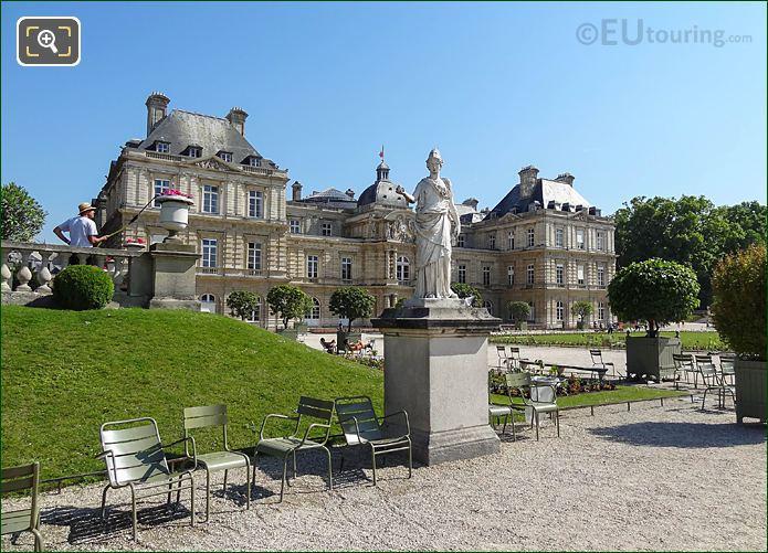 Jardin Du Luxembourg Gardener Watering Flower Western Terrace