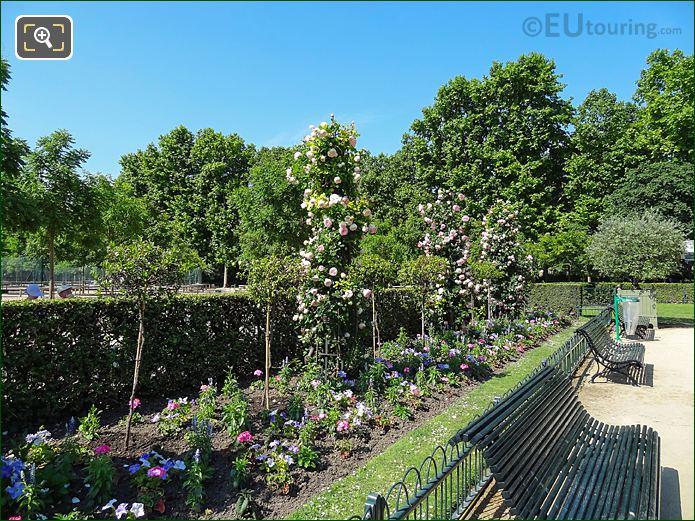 South Side Flowerbed In Jardin De La Roseraie