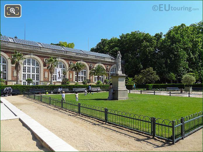 La Messagere Statue In Jardin De La Roseraie