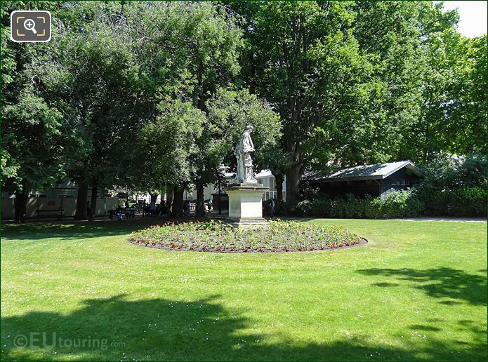 Northerly View Of Statue, Gardens NW Side Jardin Du Luxembourg