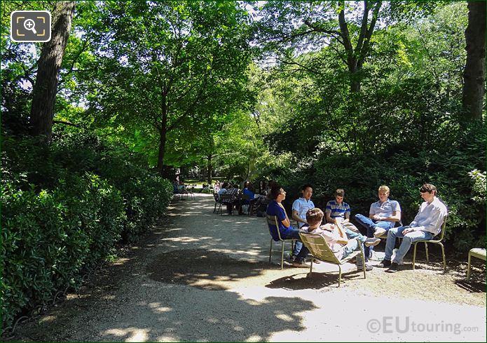 Students In Jardin Du Luxembourg SW Gardens