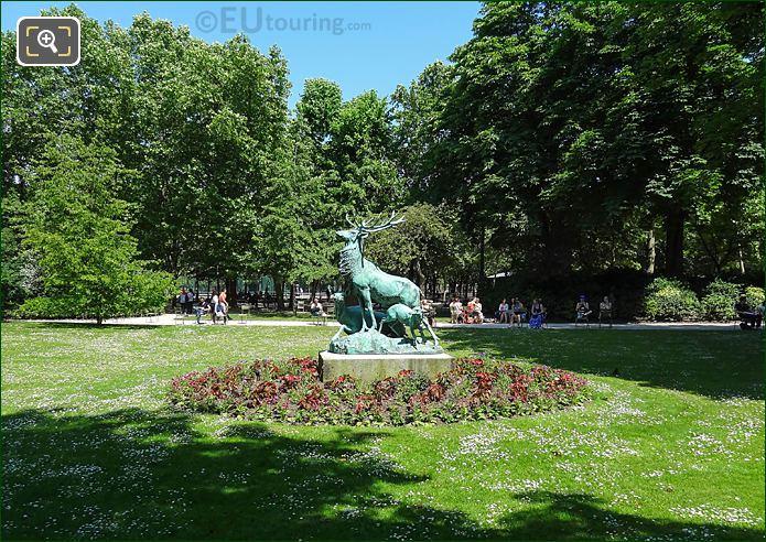 North View Jardin Du Luxembourg South Gardens Deer Sculpture