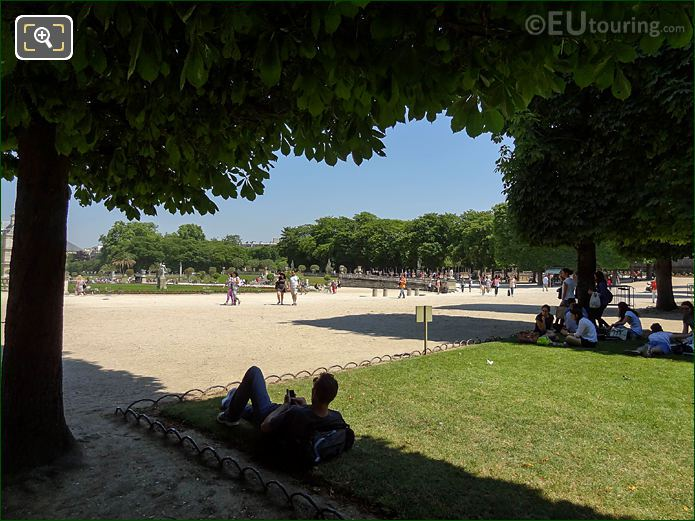 NE Over Jardin Du Luxembourg From South End Of Gardens