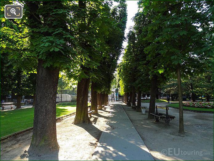 Jardin Du Luxembourg East Pathway To Rue Soufflot