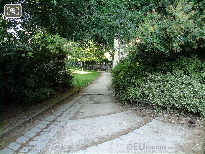 Jardin Du Luxembourg Pathway South Side Of Medici Fountain