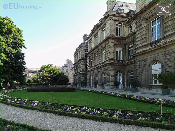 Gardens And Western Facade Of Palais Du Luxembourg