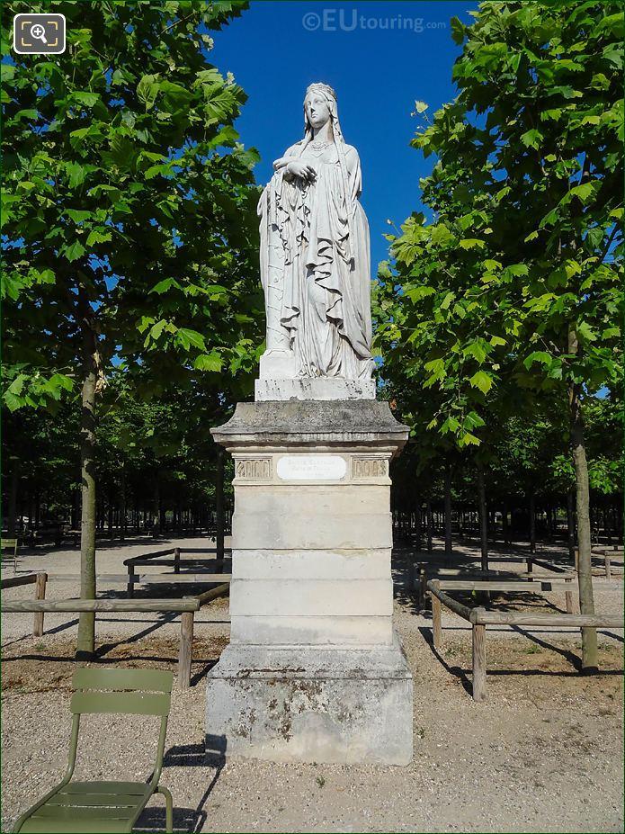 Jardin Du Luxembourg Sainte Clotilde Statue Western Terrace Central Gardens