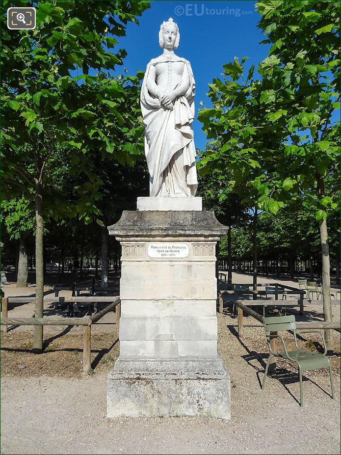 Jardin Du Luxembourg Marguerite De Provence Statue On Western Terrace