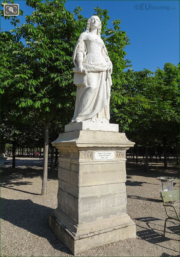 SE Sides Of Jardin Du Luxembourg Anne D'Autriche Statue