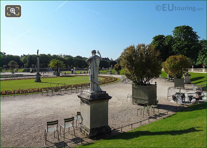 Jardin Du Luxembourg From Western Terrace Looking South Easterly