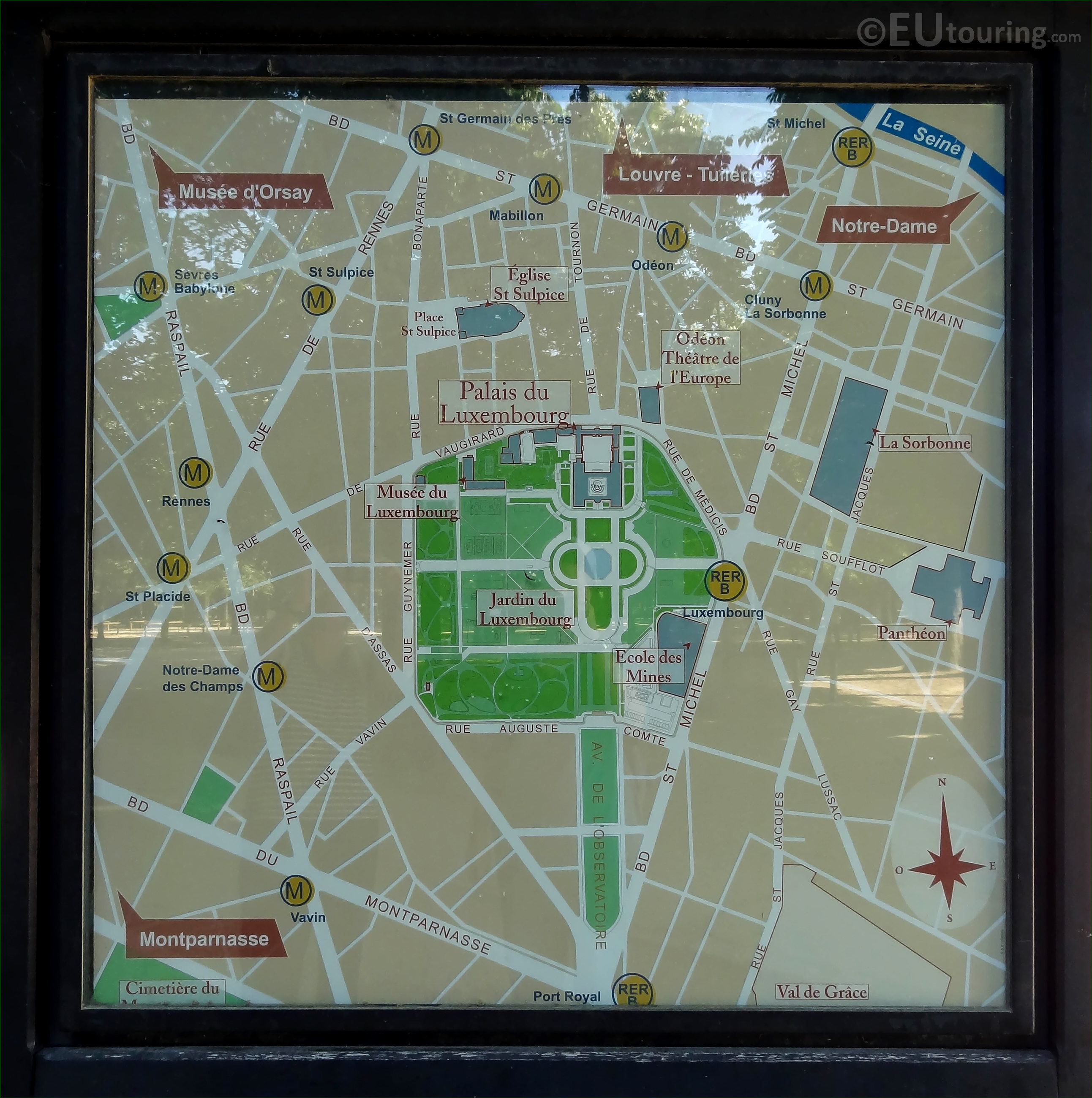 Photo of Jardin du Luxembourg location map - Page 29
