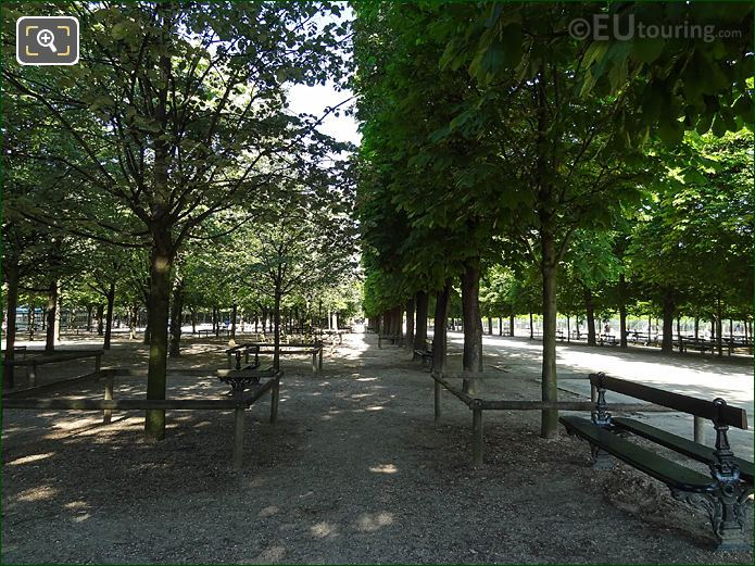 Tree Lined Allees Jardin Du Luxembourg Western Gardens