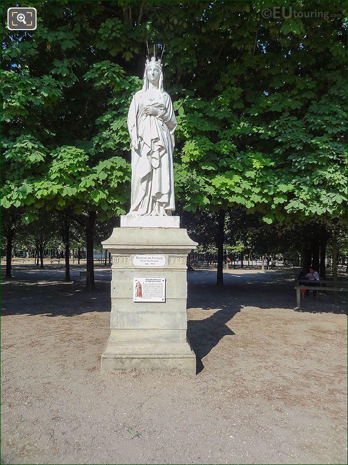 Jardin Du Luxembourg Blanche Of Castile Statue Western Terrace