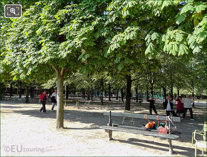Parisians Practicing Tai Chi In Jardin Du Luxembourg