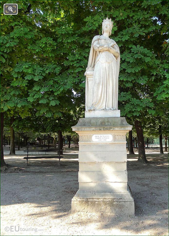 Jardin Du Luxembourg Anne De Beajeu Statue Western Terrace