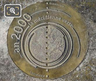 Bronze Meridian Line Disc In Jardin Du Luxembourg