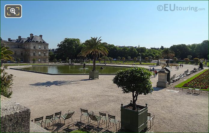 Grand Basin In Jardin Du Luxembourg Viewed From Western Terrace