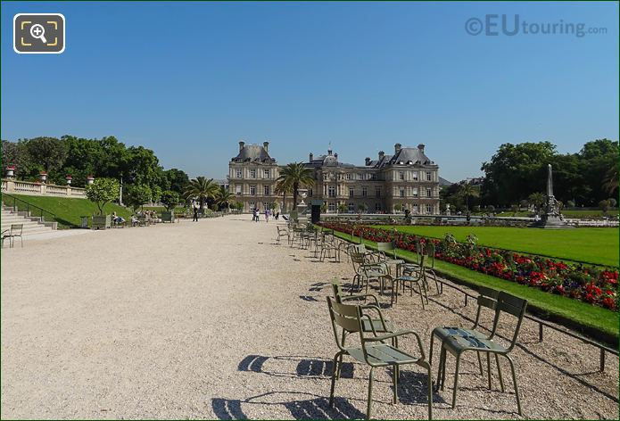 LH Gravel Path Green Chairs And Palais Du Luxembourg