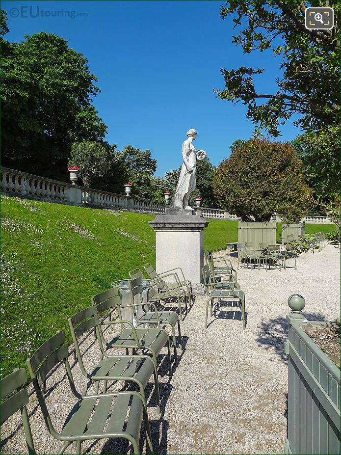Jardin Du Luxembourg Western Terrace With Flore Statue