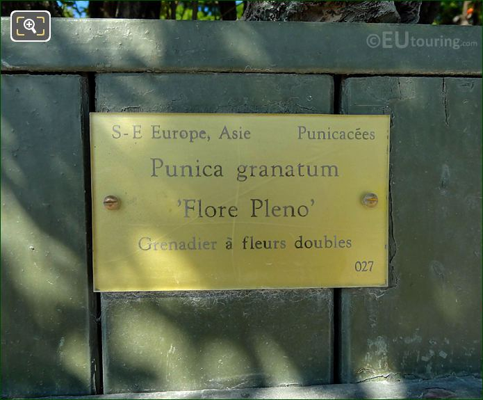 Tourist Information Plaque On Plant Pot 27