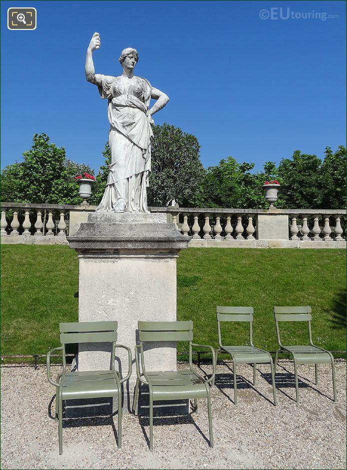 Jardin Du Luxembourg Queen Of Heaven Statue Western Terrace