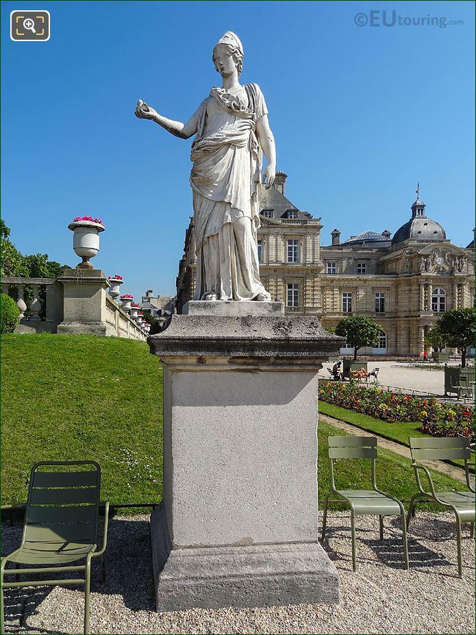 Jardin Du Luxembourg Goddess Of Wisdom Statue Western Central Garden