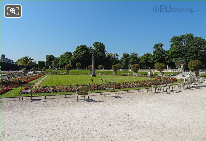 South View Over Western Semicircular Parterre Jardin Du Luxembourg